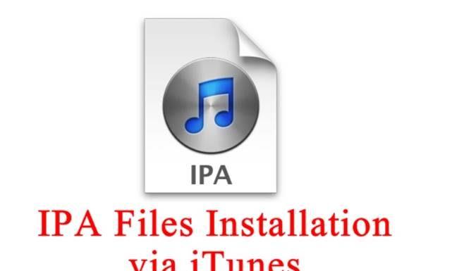 Install iPA on iTunes
