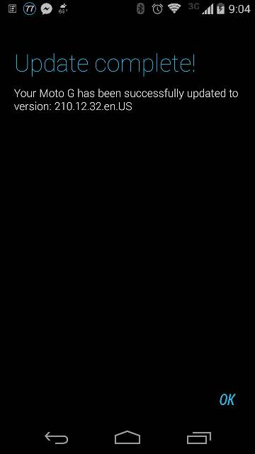 Moto G Android 4.4.3 Update