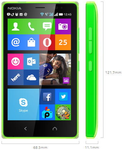 Nokia X2 Display