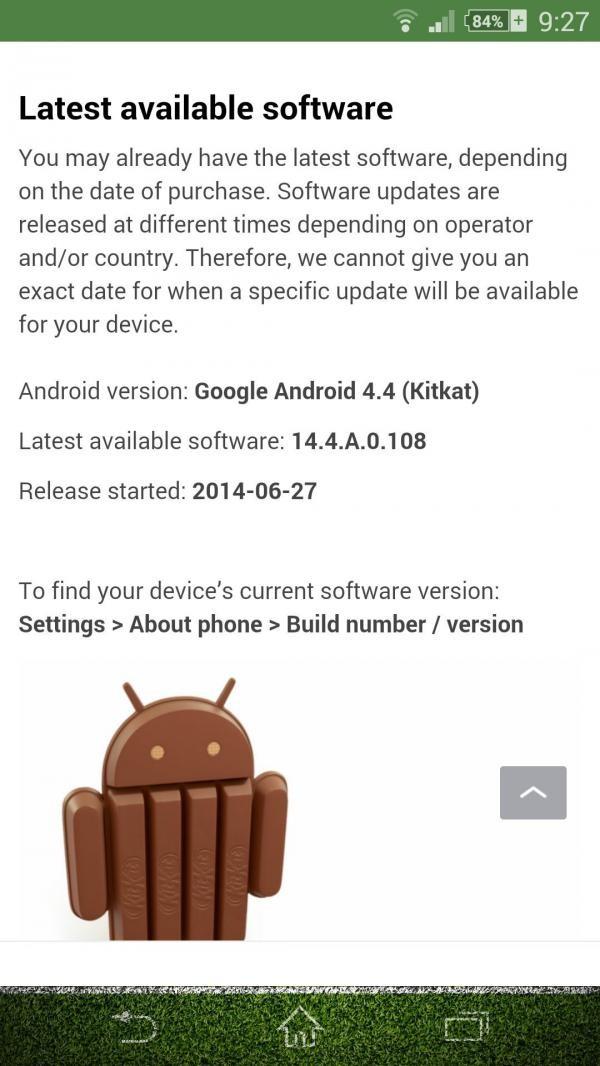 Xperia Z1 4.4.4 Kitkat