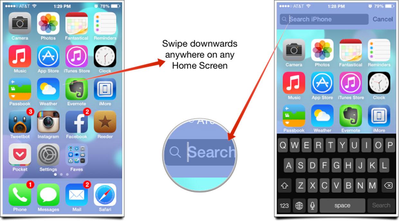 iOS Spotlight Search