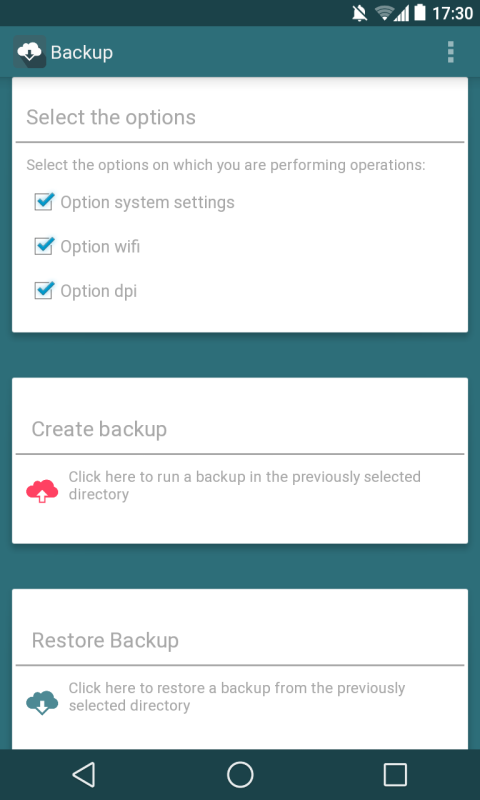 Backup Android app