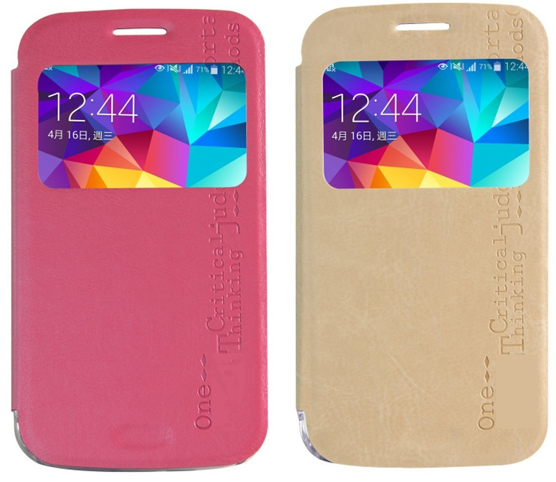 Galaxy K Zoom Leather Flip Cover
