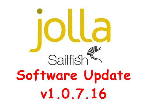 Jolla Sailfish Software update