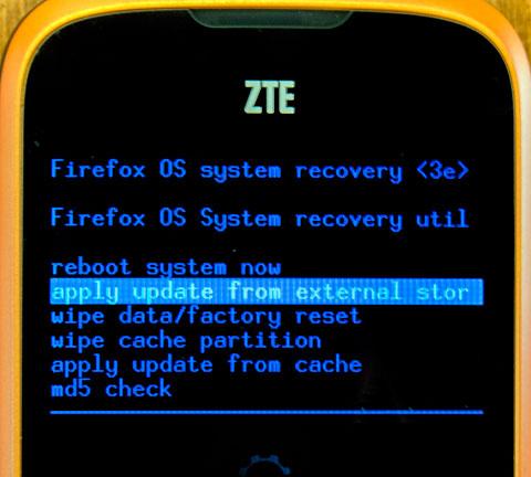 Firefox Modo Recovery Mode