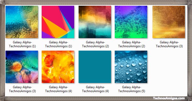 Galaxy Alpha Default Wallpapers