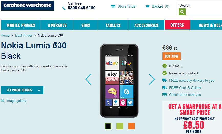 Nokia Lumia 530 UK