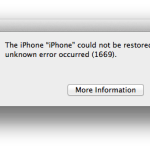 How to Fix iPhone Error 1669 on Apple Devices