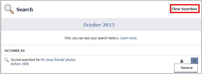 Facebook Graph Searches