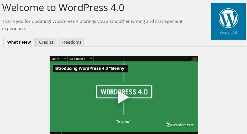Wordpress Benny Update Done