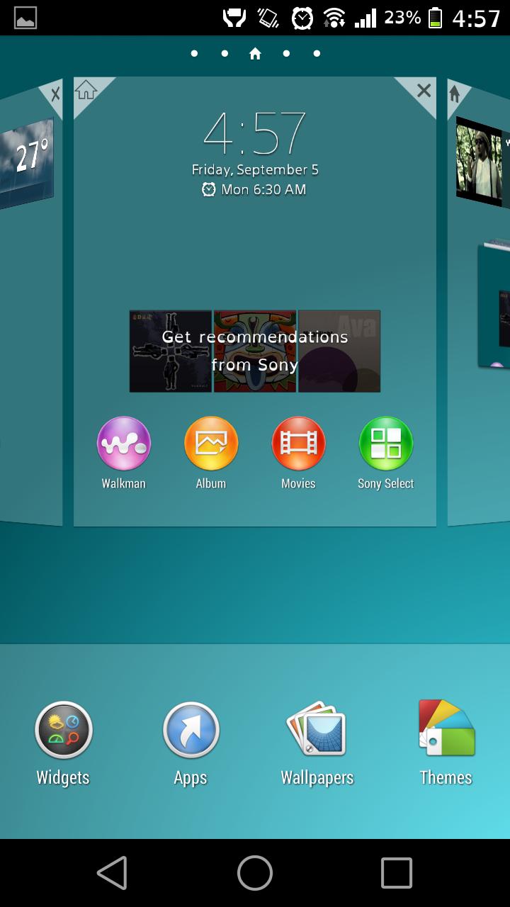 Xperia Z3 Launcher APp