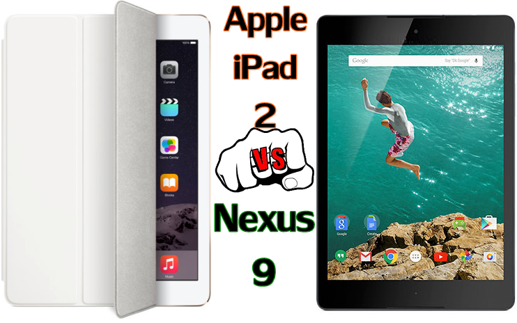 Apple iPad 2 vs Nexus 9 comparison