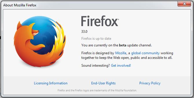 Firefox 33 Beta Release