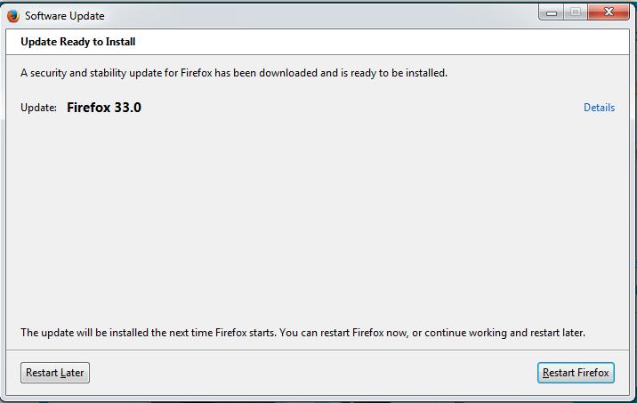 Firefox 33 Update