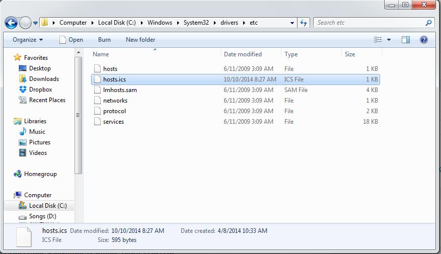 Host Under Windows 7