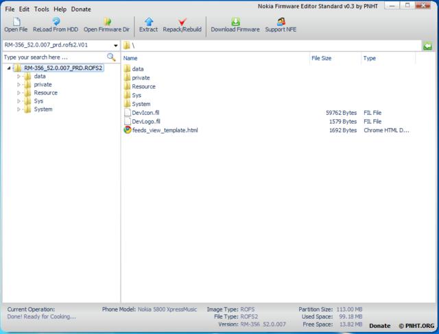 Nokia Firmware Editor
