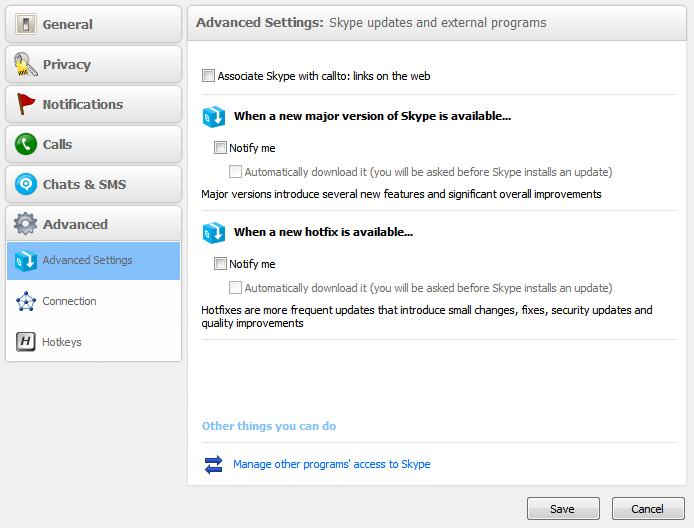 Skype Software Update