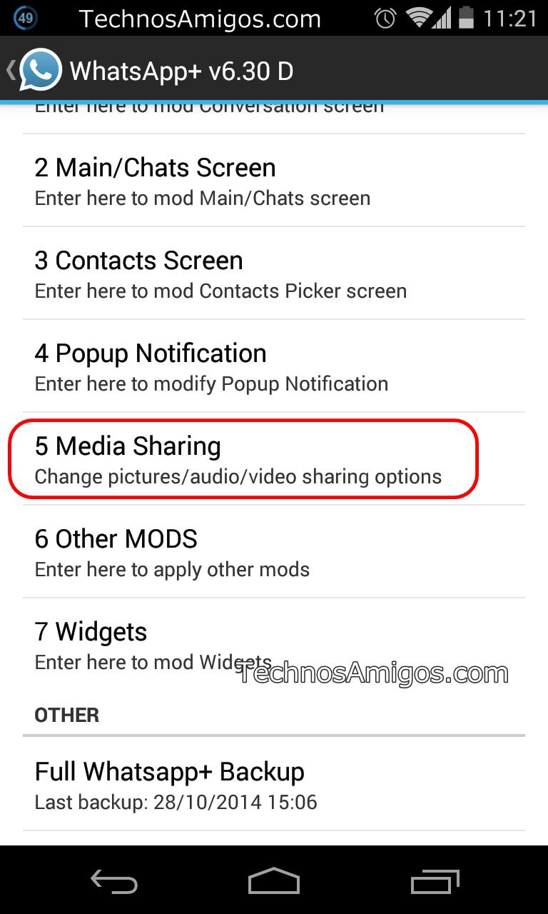 WhatsApp Plus Media Sharing