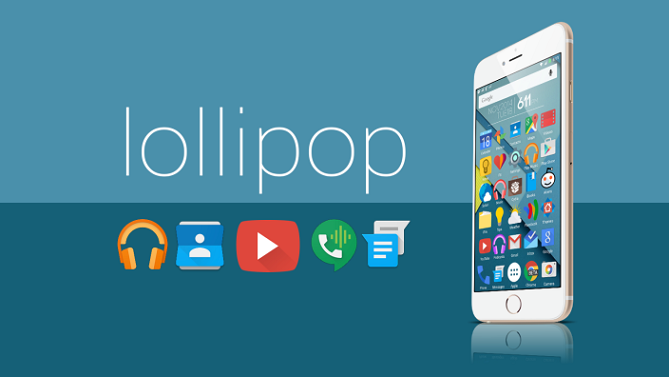 Android Lollipop on iPhone