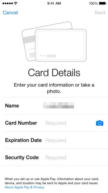 Apple Pay Settings