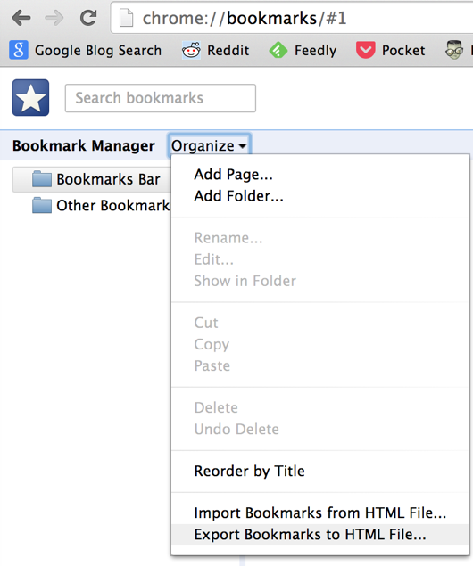 Bookmarks Organizing on Chrome
