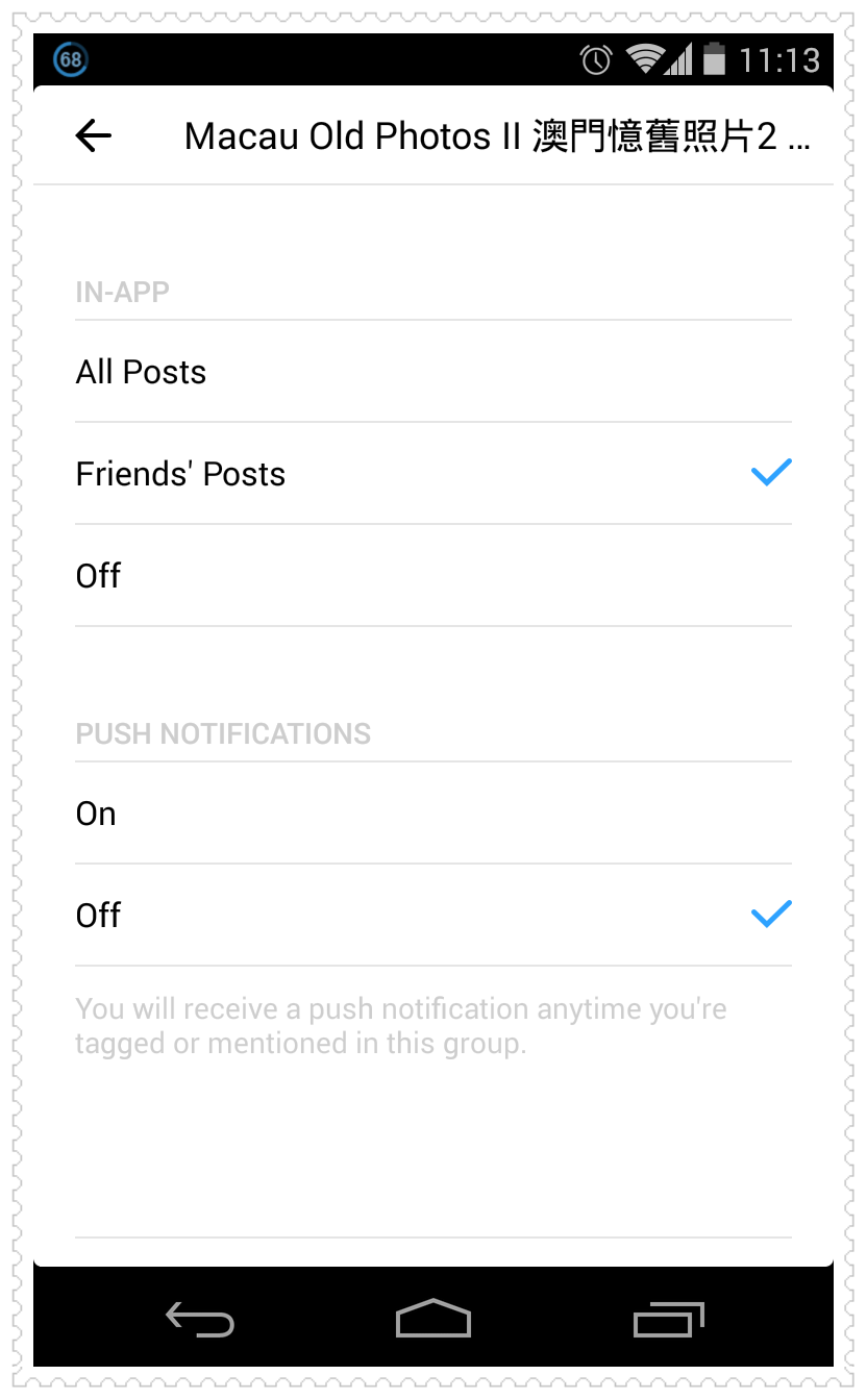 Facebook Groups Notifications