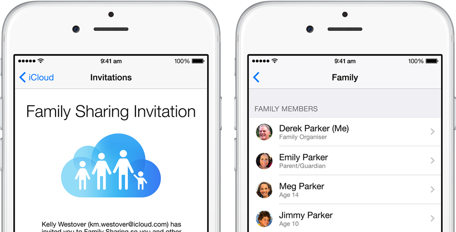 Family Sharing on iOS 8