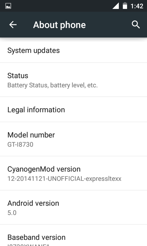 Samsung Galaxy Express Lollipop Update via CyanogenMod 12