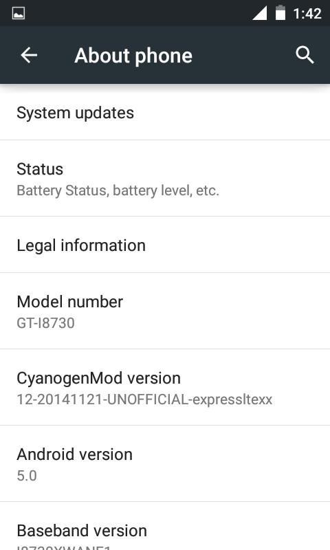 Samsung Galaxy Express Lollipop Update via CyanogenMod 12
