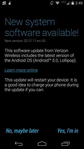 Moto X Lollipop Screenshot