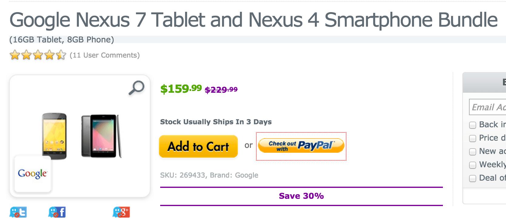 Nexus 7 tablet deal