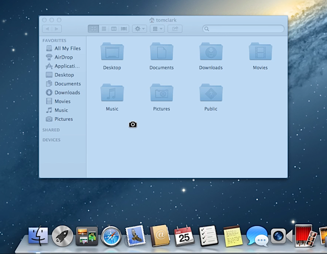Screenshot on Mac