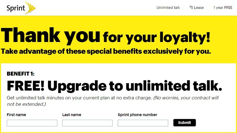 Sprint Loyalty Program