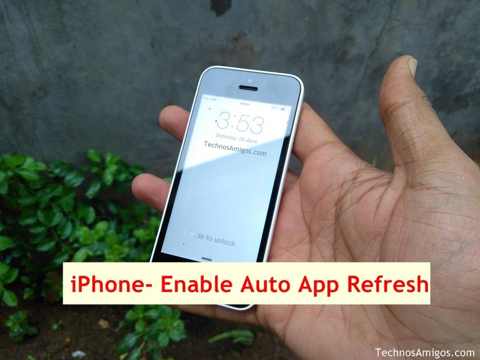 iPhone App Refresh
