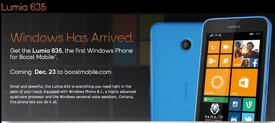 Boost Mobile Lumia 635