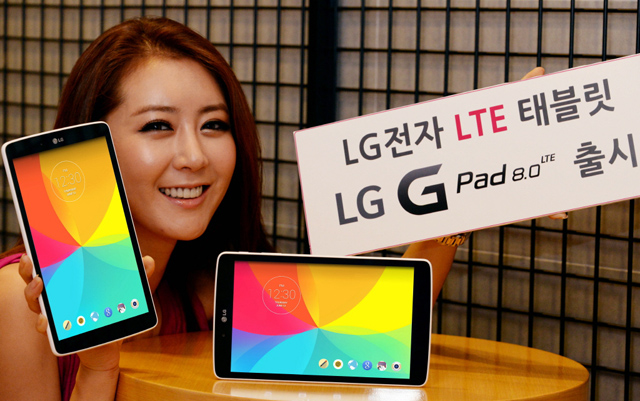 LG G Pad 8.0 LTE tablet