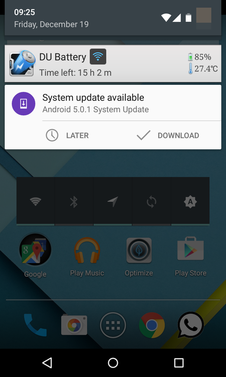 Nexus 4 Android 5.0.1 Update