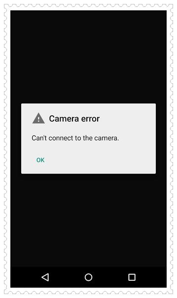 Nexus Camera Error
