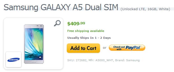 Samsung Galaxy A5 USA