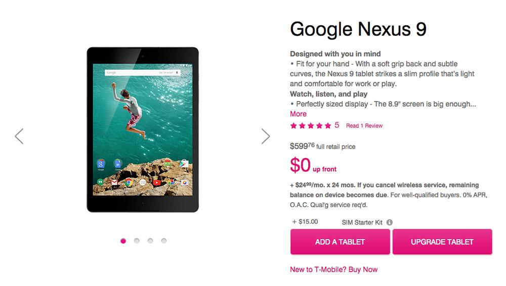 T-Mobile Nexus 9 LTE