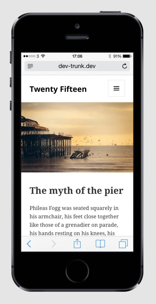 Twenty Fifteen Mobile Theme