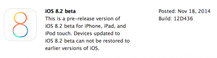 download iOS 8.2 Beta