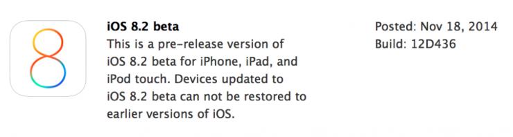download iOS 8.2 Beta