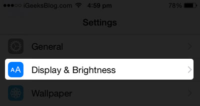 Brightness on iPhone
