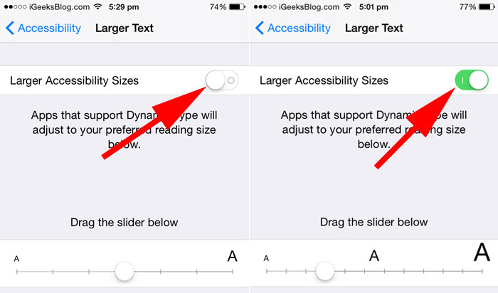Dynamic Text Feature