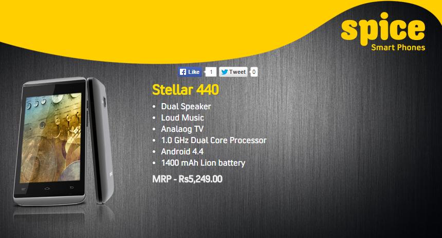 Spice Stellar 440 Phone