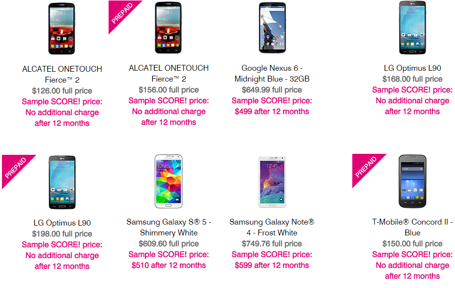TMobile Score Plan