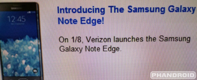 Verizon Galaxy Note Edge Leak