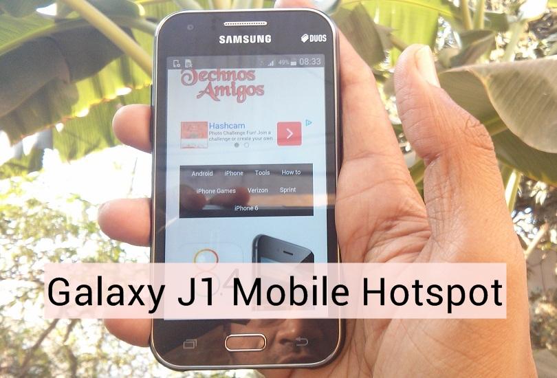 Samsung Galaxy J1 Hotspot
