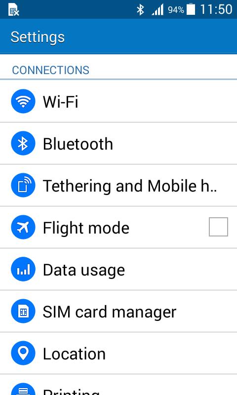 Samsung Galaxy J1 Tethering